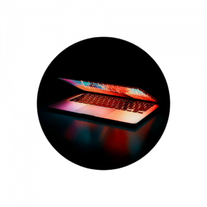 Projet web en cours Image décorative d'un ordinateur portable - page projets web en cours